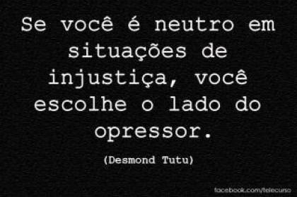 ...Desmond Tutu para pensarmos...